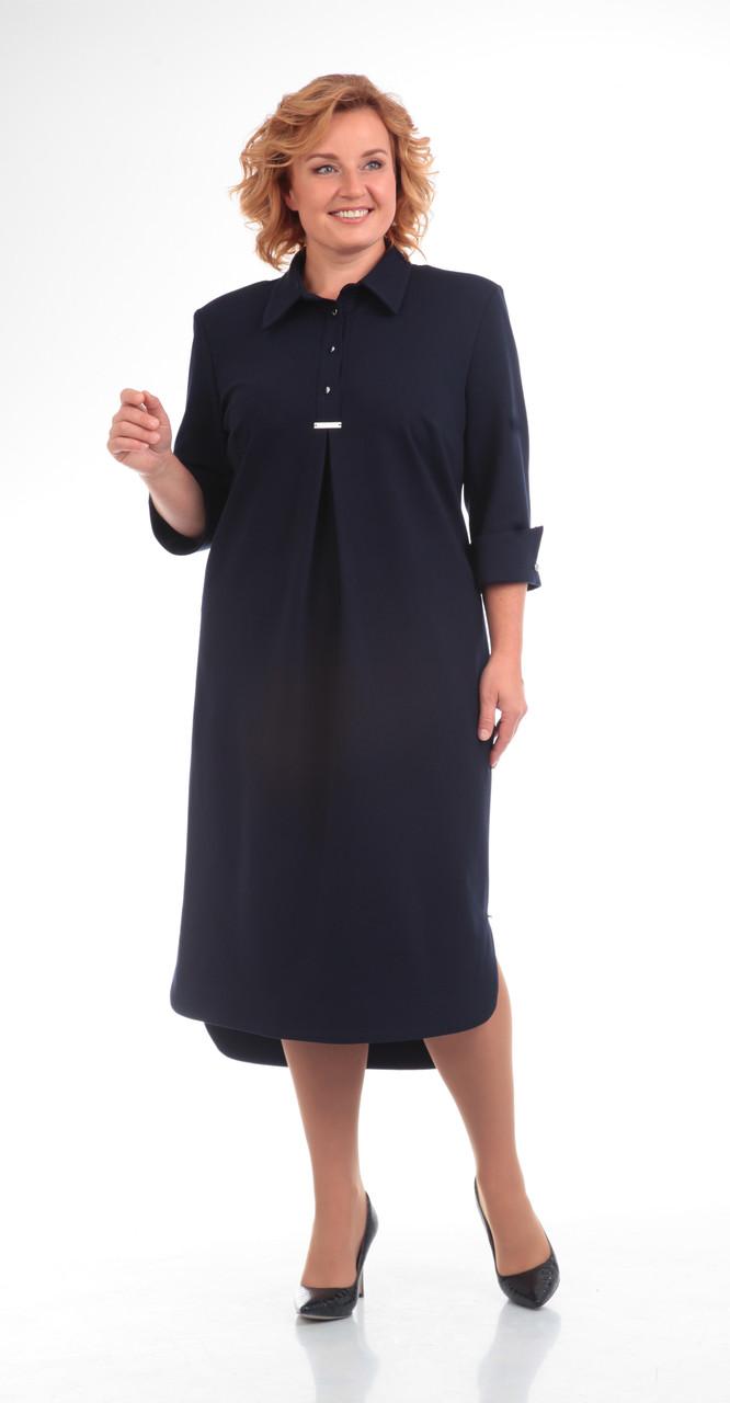 Платье Pretty-586, темно-синий, 56