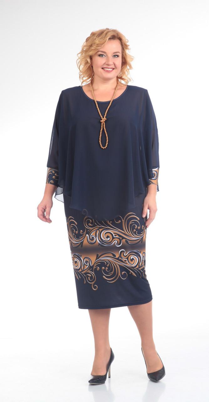 Платье Pretty-622, темно-синий, 56