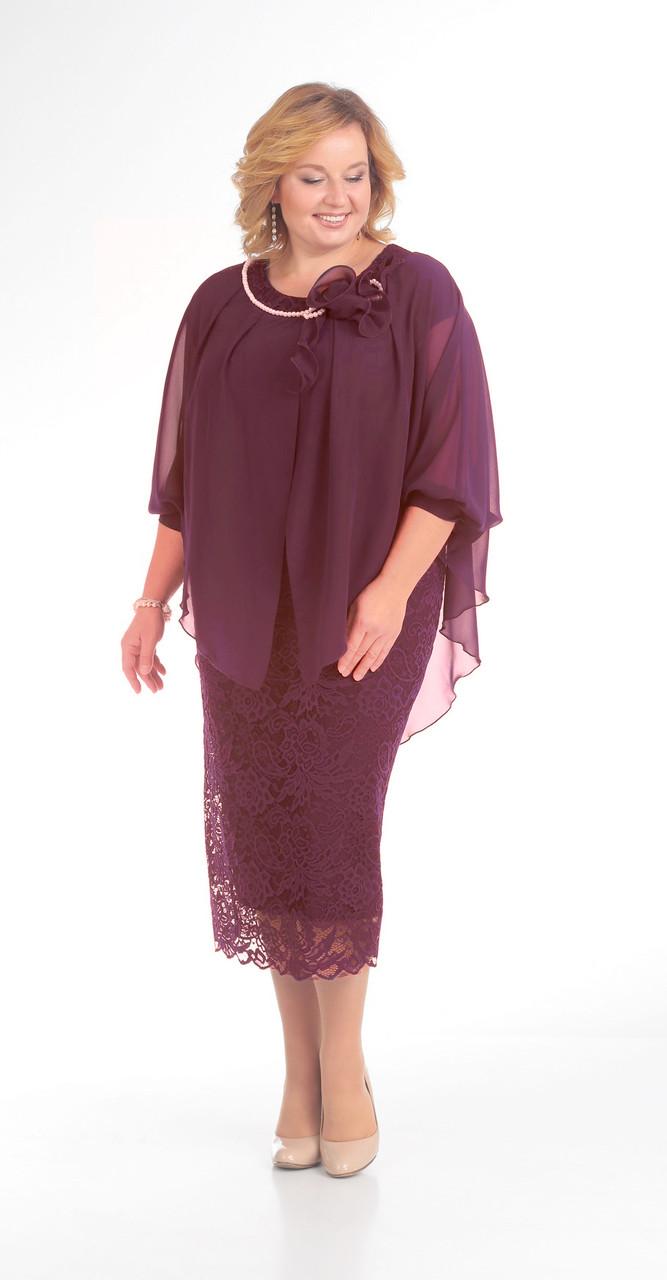Платье Pretty-776/2, бордо, 56