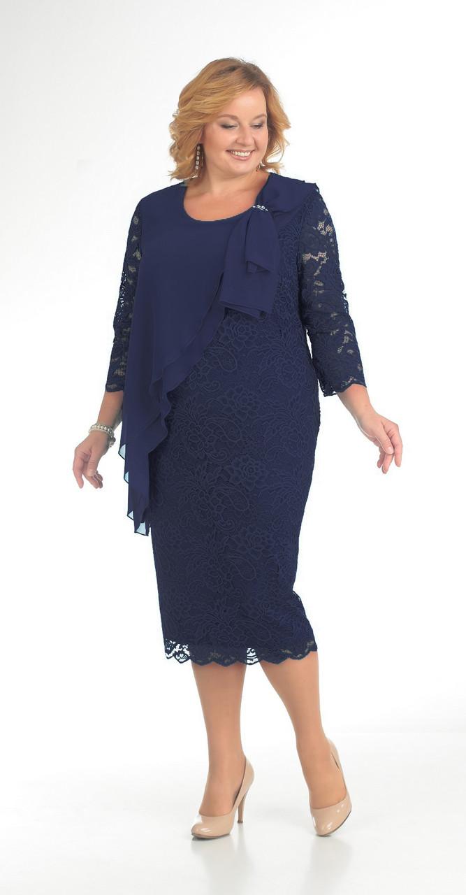 Платье Pretty-781/3, синий, 56