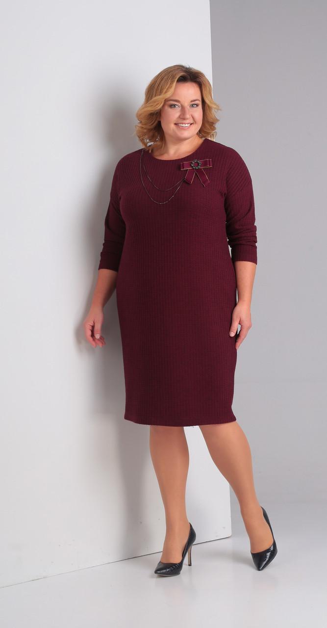 Платье Диамант-1360, бордо, 52