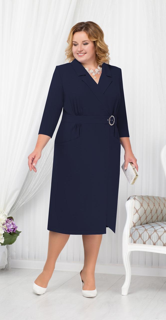 Платье Ninele-5670/2, темно-синий, 54