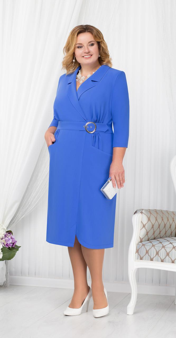 Платье Ninele-5670/3, василек, 54