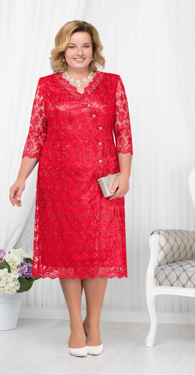 Платье Ninele-5673, красный, 54