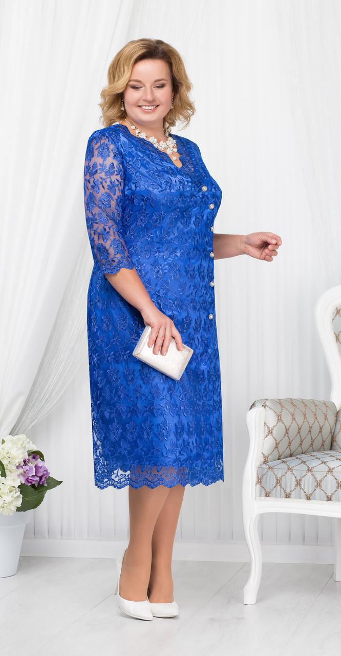 Платье Ninele-5673/2, василек, 54