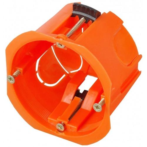 Коробка установочная СВЕТОЗАР, макс. напряжение 400В, с пластиковыми лапками, 68х47мм