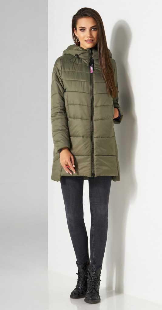 Куртка Lissana-3512, оливка, 48