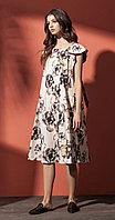 Платье Nova Line-5799, цветы, 42