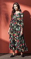 Платье Nova Line-5847, цветы, 42