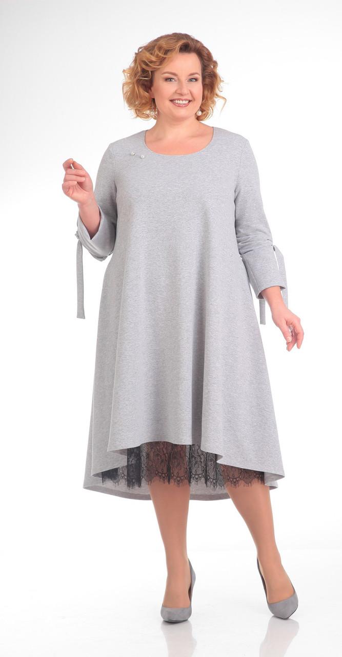 Платье Pretty-666/1, серый, 56