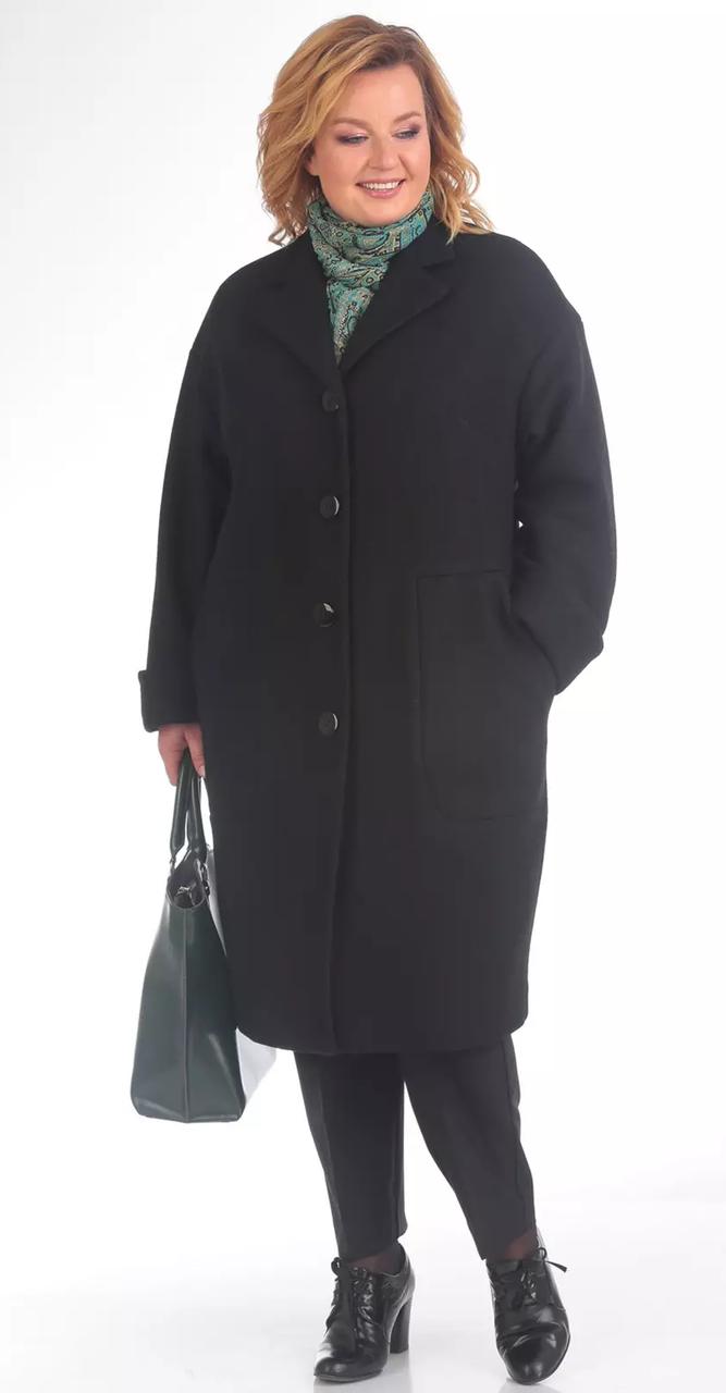 Пальто Pretty-787/1, черный, 54