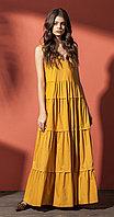 Платье Nova Line-5859/1, горчица, 42
