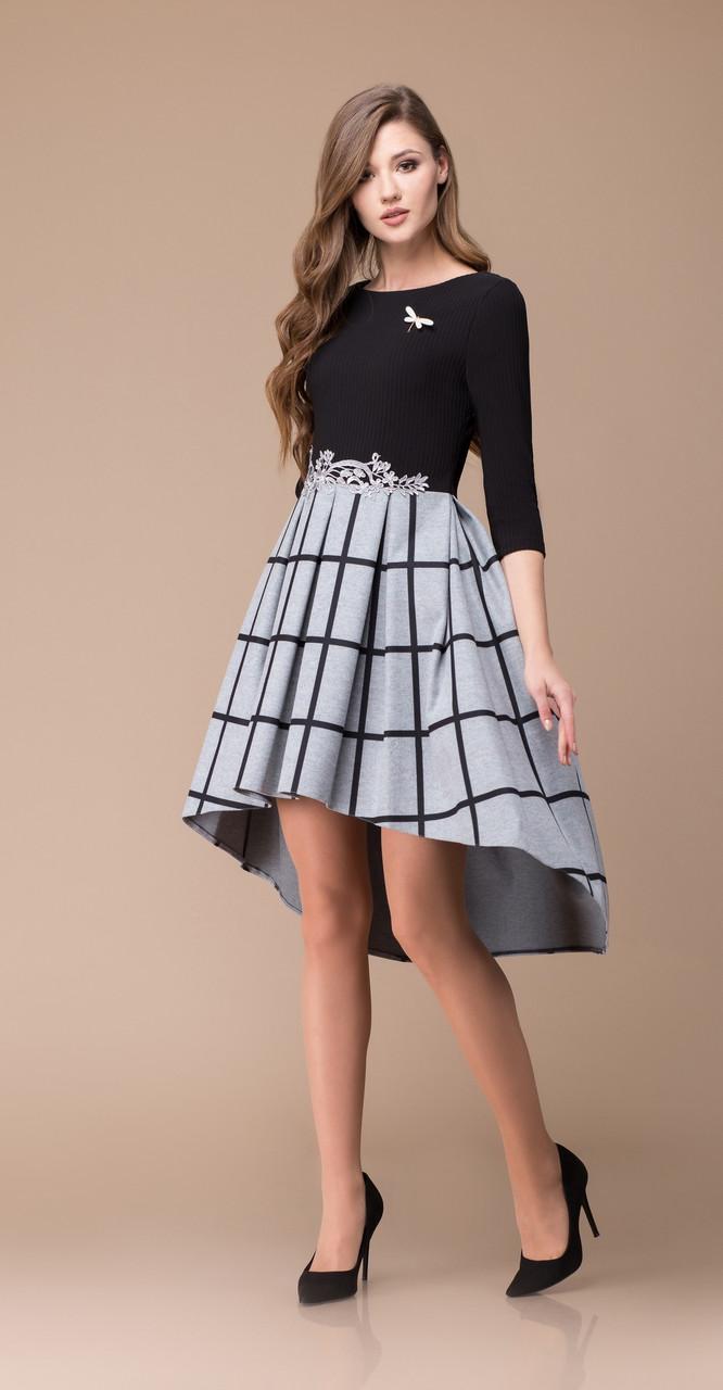 Платье Svetlana Style-1144, черно-серые тона, 46