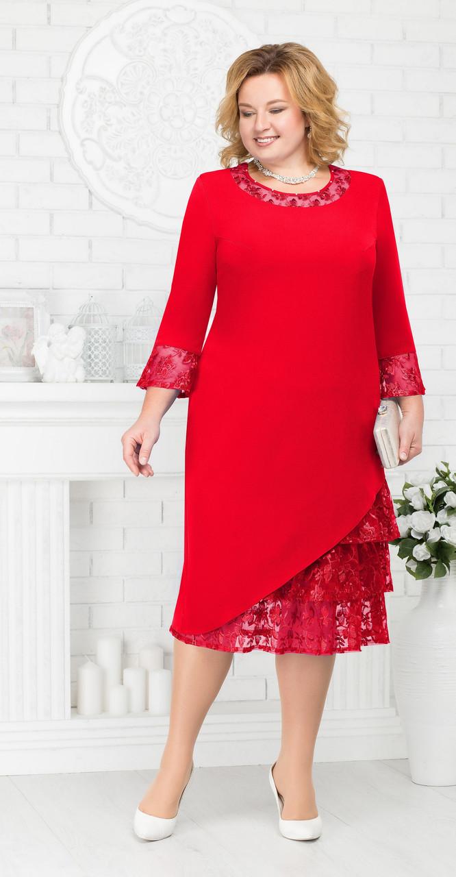 Платье Ninele-2182, красный, 54