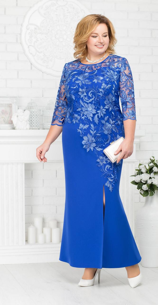 Платье Ninele-5661/2, василек, 54