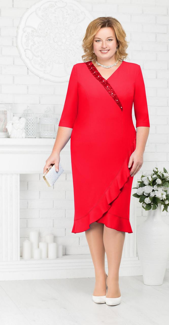 Платье Ninele-7211/1, красный, 54