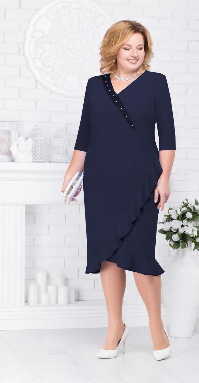 Платье Ninele-7211/3, темно-синий, 54