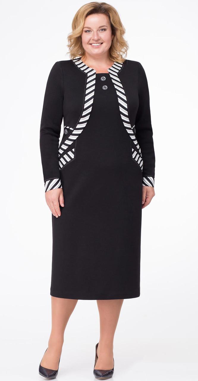 Платье Линия-Л-Б-169, черный, 54