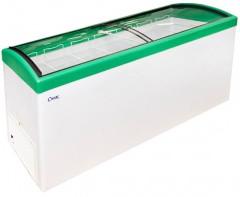 Ларь морозильный Снеж МЛГ-400 зеленый