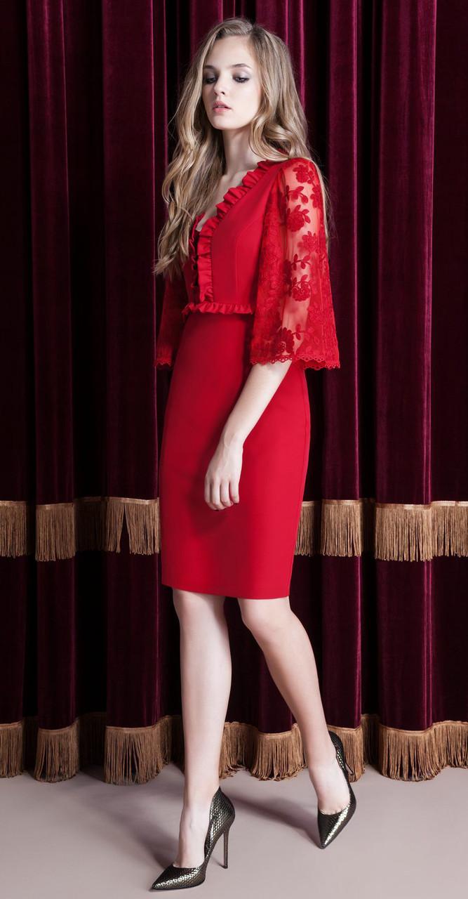Платье Nova Line-5812, красный, 42