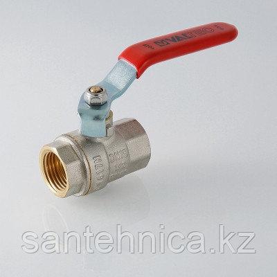 Кран шаровой латунь Ду 20 Ру40 внутренняя/внутренняя резьба рычаг полнопроходной никель Valtec, фото 2