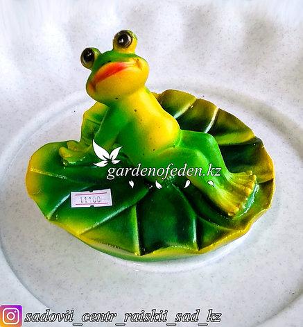 """Садовая фигура """"Лягушка на листе лилии"""", высота: см. Материал: Полистоун., фото 2"""