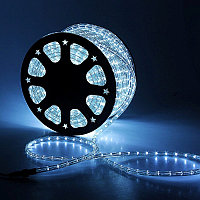 Светодиодная гирлянда дюралайт - бухта 100 метров, 3 000 лампочек, белый свет, водонепроницаемая