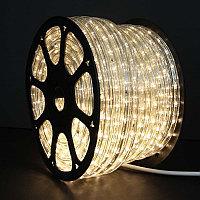 LED гирлянда дюралайт - бухта 100 метров, 1800 лампочек, тёплый свет, водонепроницаемая