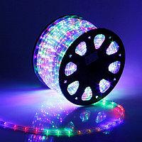 Светодиодный дюралайт - бухта 100 метров, 1 800 лампочек, разноцветный (RGB) водонепроницаемая