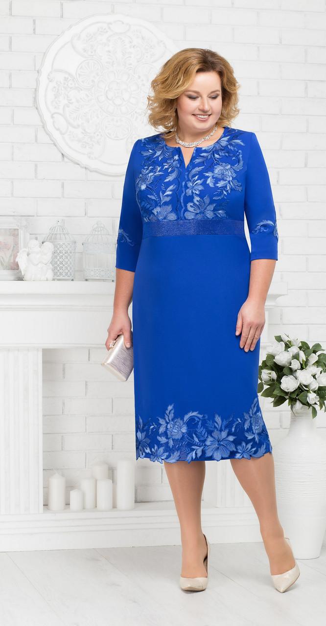 Платье Ninele-5677, василек, 56
