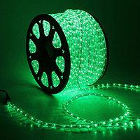 Уличная LED гирлянда дюралайт - бухта 100 метров, 1 800 лампочек, зеленый свет, водонепроницаемая