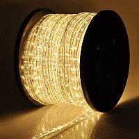LED гирлянда дюралайт - бухта 100 метров, 3 000 лампочек, тёплый свет, для улицы и помещений