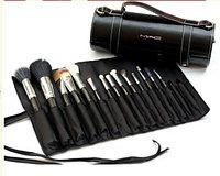 Набор профессиональных  кистей для макияжа Mac 16 кисточек в тубусе., фото 1