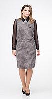 Платье Дали-5364, черно-белые тона, 48