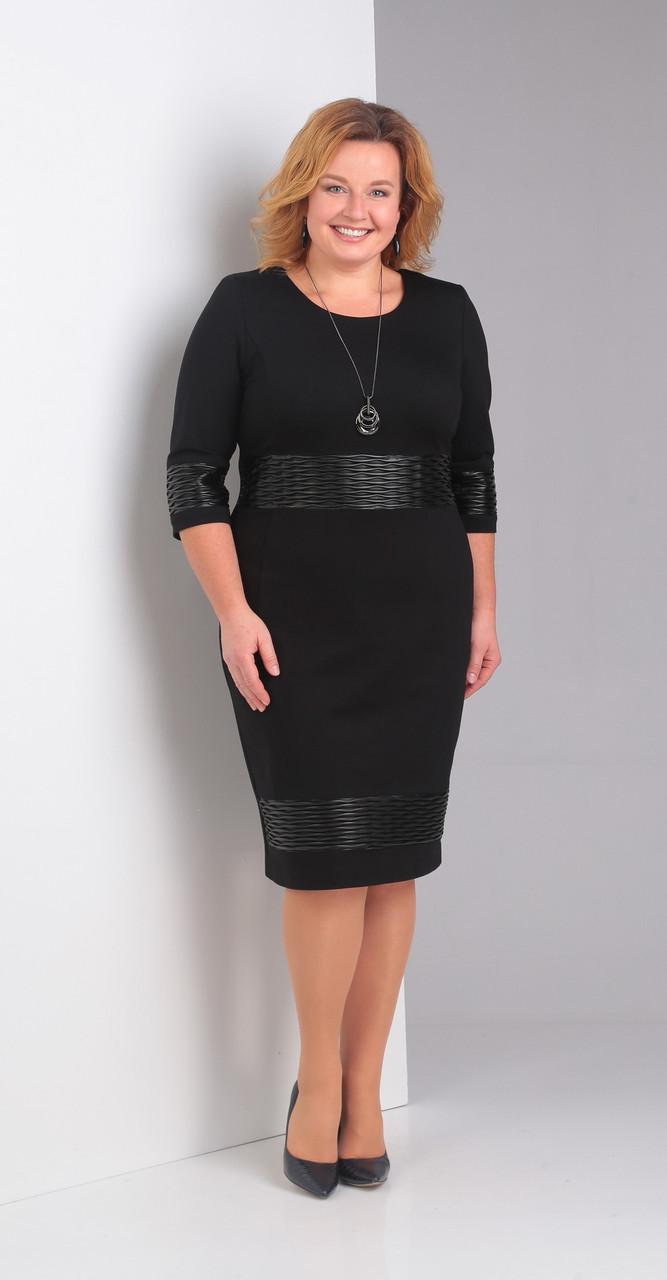 Платье Диамант-1373, черный, 52