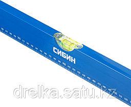 Уровень СИБИН коробчатый, 3 противоударных ампулы, измерительная линейка, 60см, фото 2