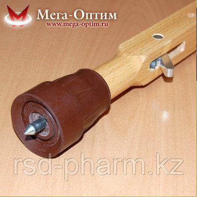 Костыли подмышечные деревянные с мягкими подмышечниками и УПС Штырь, фото 2