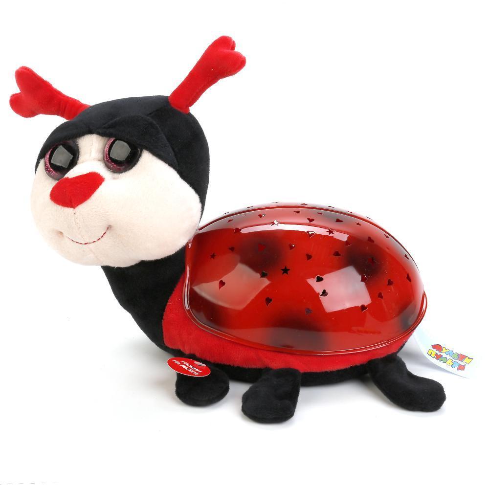 Мульти-Пульти Мягкая игрушка проектор-ночник - Божья коровка, 7 колыбельных