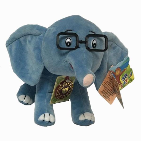 """Мульти-Пульти Мягкая игрушка """"38 попугаев"""" - Слонёнок (звук), 20 см"""
