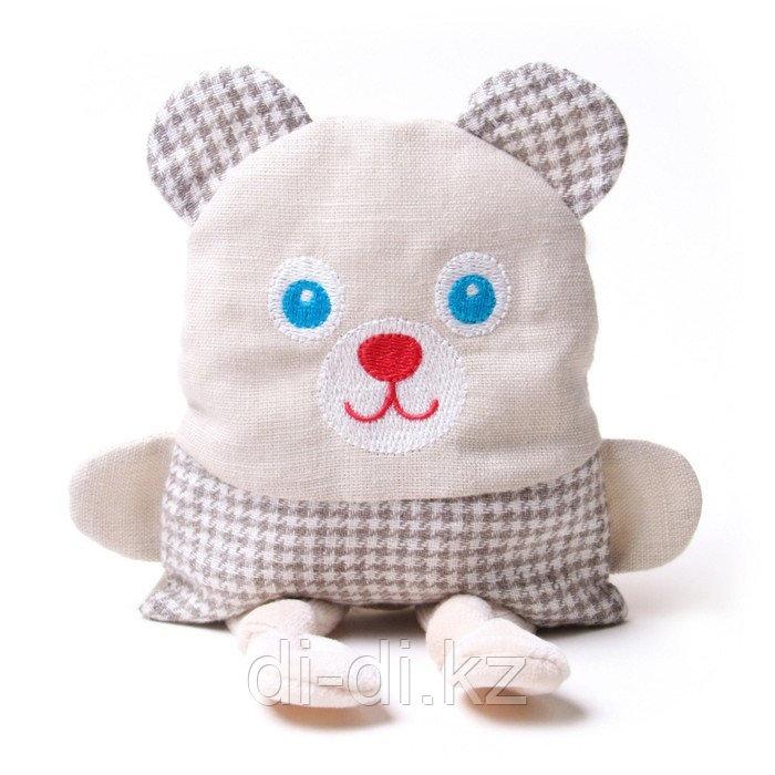 """Развивающая мягкая игрушка с вишнёвыми косточками - """"Крошка Мишка. Доктор мякиш"""""""