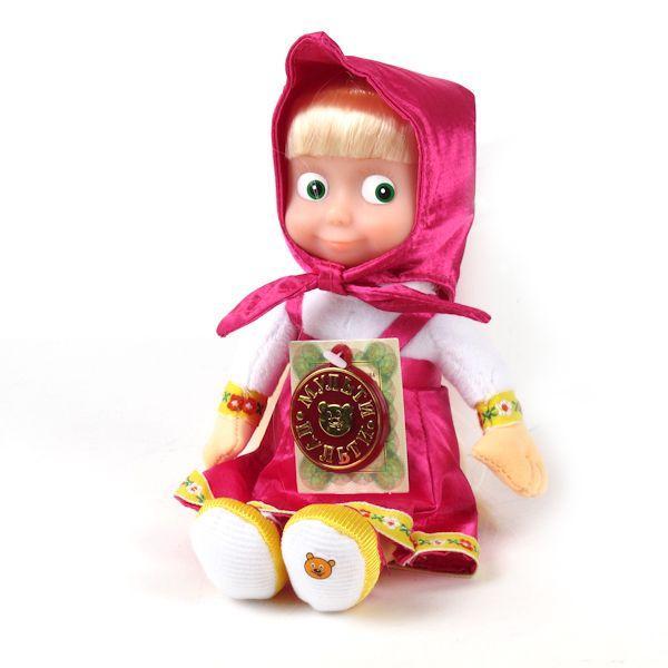 """Мульти-Пульти Мягкая игрушка """"Маша и Медведь"""" - Маша (звук), 22 см"""