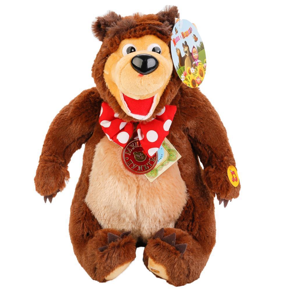 """Мульти-Пульти Мягкая игрушка """"Маша и Медведь"""" - Медведь (звук), 28 см"""