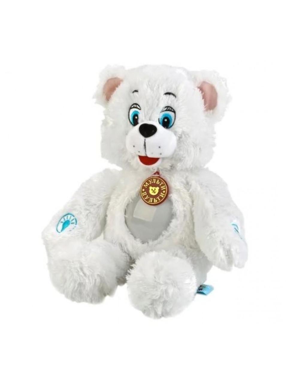 """Мульти-Пульти Мягкая игрушка """"Лунный мишка"""" (светильник), 38 см"""