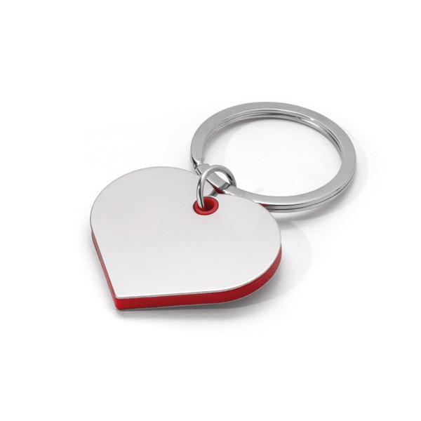 Брелок из металла и ABS сердце, BASSO