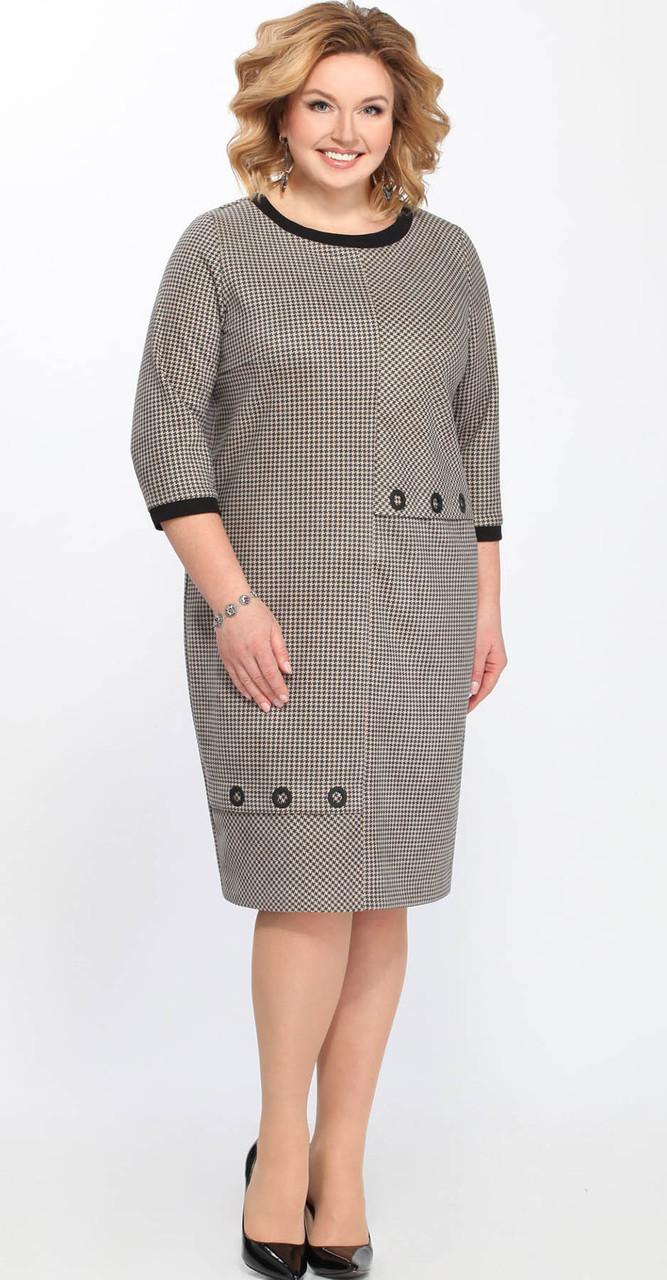 Платье Matini-31234, бежевые тона, 52