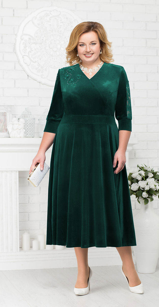 Платье Ninele-2187/2, зеленый, 56