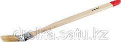 """Кисти радиаторные угловые ЗУБР """"УНИВЕРСАЛ-МАСТЕР"""", светлая натуральная щетина, деревянная ручка"""