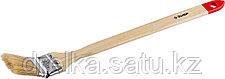 """Кисти радиаторные угловые ЗУБР """"УНИВЕРСАЛ-МАСТЕР"""", светлая натуральная щетина, деревянная ручка, фото 3"""