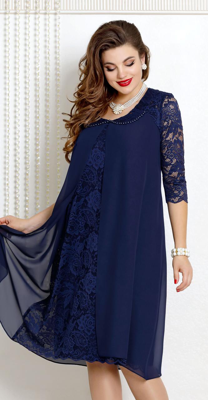 Платье Vittoria Queen-9043/3, темно-синий, 54