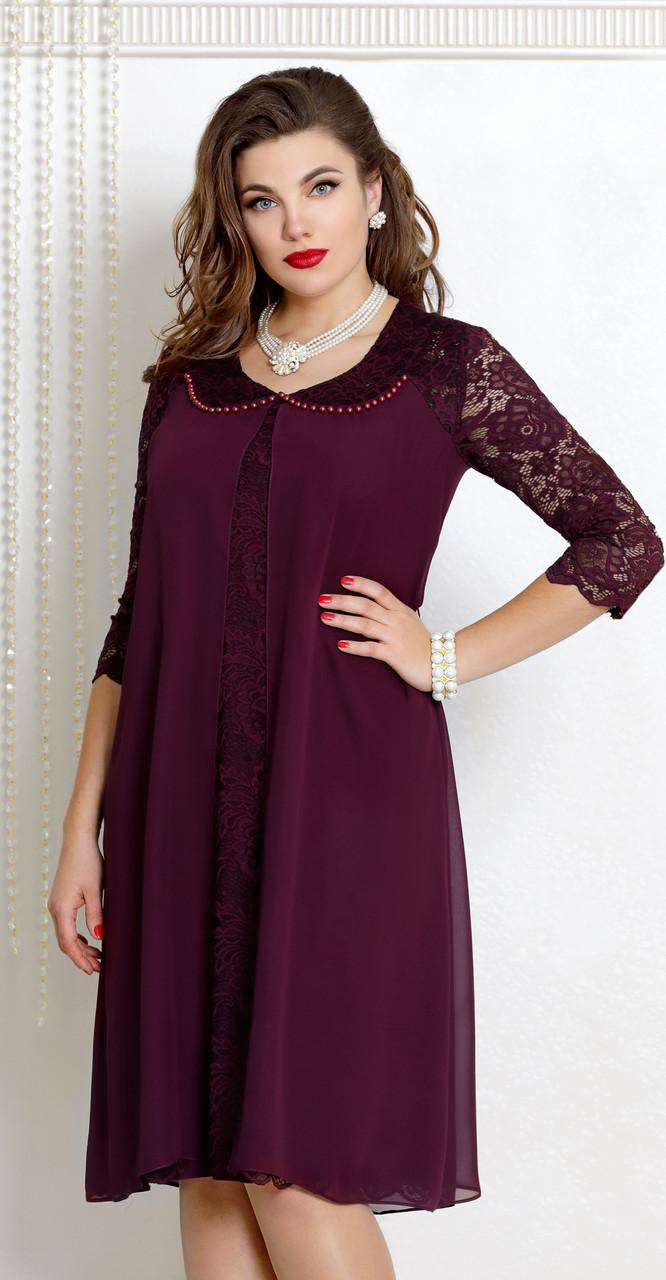 Платье Vittoria Queen-9043/4, ежевика, 54